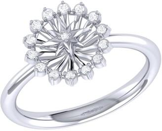 Lmj Starburst Ring In Sterling Silver