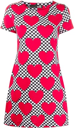 Love Moschino heart print T-shirt dress