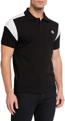 Moncler Men's Colorblock Jersey Polo Shirt