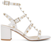 Valentino White Garavani Rockstud City Cage Sandals