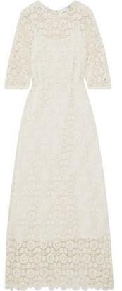 Mansur Gavriel Cotton Guipure Lace Maxi Dress