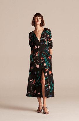 Rebecca Taylor Botanical Bloom Long Dress