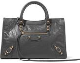 Balenciaga Classic City Small Textured-leather Tote - Dark gray