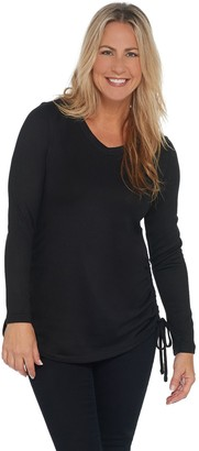 Isaac Mizrahi Live! SOHO V-Neck Tunic with Ruched Seam Hem