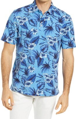 Tommy Bahama Hibiscus Way Floral Short Sleeve Men's Polo