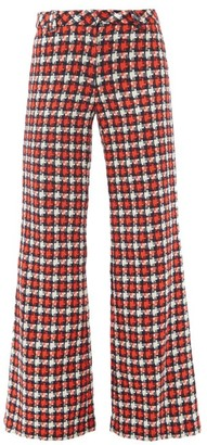 Goat Kipling Wool-blend Lochcarron Flared Trousers - Red Multi