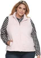 Croft & Barrow Plus Size Faux-Fur Vest