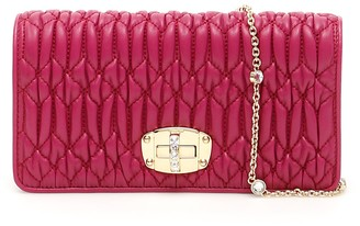 Miu Miu Crystal Chain Strap Clutch Bag