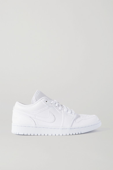 Nike Air Jordan 1 Low Leather Sneakers - White