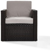 Belton Outdoor Wicker Deep Seating Patio Chair with Cushion Mercury Row Color: Grey