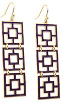 Trina Turk Tiered Brick Earrings In Purple