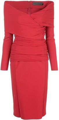 Greta Constantine Off The Shoulder V-Neck Dress