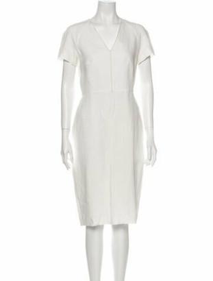 Max Mara Linen Knee-Length Dress w/ Tags White