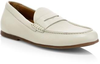 Aquatalia Kirk Pebbled Leather Penny Loafers