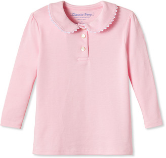 Classic Prep Childrenswear Girl's Sarah Scalloped Polo Shirt, Size 12 Months-12