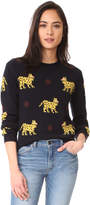 Chinti and Parker All Over Leopard Cashmere Sweater