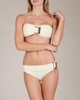 Clube Bossa Solid Belted Bandeau Bikini