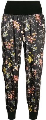 Cinq à Sept Floral Print Cropped Trousers