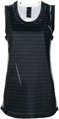 Adidas Originals By Alexander Wang Striped Tank Top