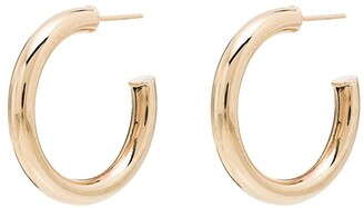 Loren Stewart Hugy 14kt yellow gold hoop earrings