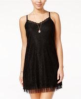 Amy Byer Juniors' Lace Slip Dress