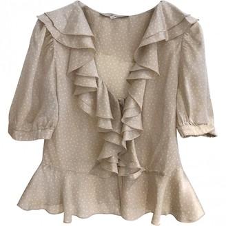 Blumarine Beige Silk Top for Women