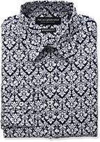 Nick Graham Men's Floral Cotton Print Dress Shirt