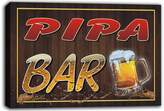 AdvPro Canvas scw3-096778 PIPA Name Home Bar Pub Beer Mugs Cheers Stretched Canvas Print Sign