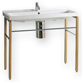 Whitehaus Collection China Rectangular Console Bathroom Sink