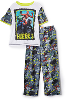 Komar Kids Justice League Black & White Pajama Set - Boys