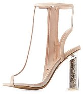 Charlotte Russe Bamboo Clear Peep Toe Lucite Heel Booties