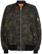Unravel Camo Bomber Jacket