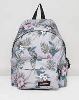 Eastpak Padded Pak R Backpack in Gray Hawaiian Floral Print