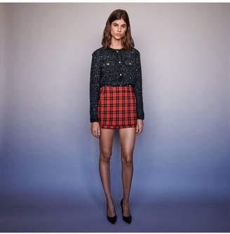 Maje Trompe-LOeil Checkered Shorts