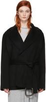 Acne Studios Black Lilo Doublé Belted Coat