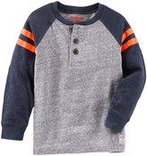 Osh Kosh Knit Polo Henley (Toddler/Kid) - Navy - 4
