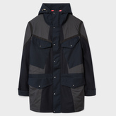 Paul Smith Men's Navy And Grey Technical Wool Parka