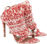Tabitha Simmons Red Flouncy Frill Stiletto Heels