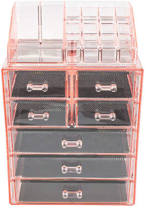 SORBUS Sorbus Acrylic Cosmetic Makeup and Jewelry StorageCase Display (3 Large 4 Small Drawers)