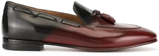 Francesco Russo Ombre Tassel Detail Loafers