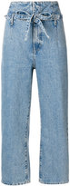 Current/Elliott Corset cropped jeans - women - Cotton - 24