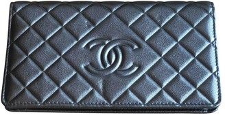 Chanel Anthracite Leather Wallets