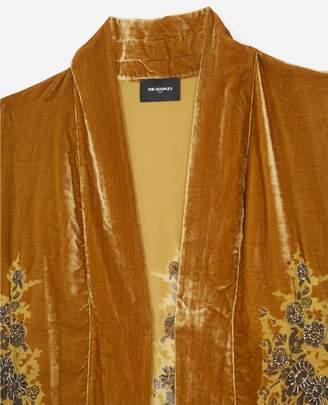 The Kooples Golden-patterned velvet kimono