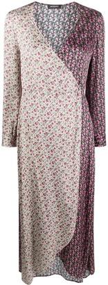 Simonetta Ravizza Floral Wrap Midi Dress