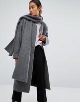 Monki Scarf Coat