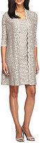 Alex Evenings Scalloped Lace 2-Piece Jacket Dress