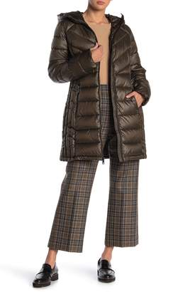 Kenneth Cole New York Hooded Long Packable Coat