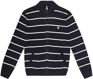 Polo Ralph Lauren Kids Striped cotton cardigan