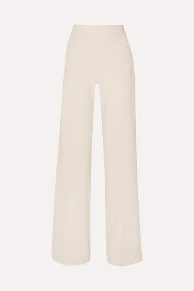 Max Mara Crepe Wide-leg Pants - Ivory