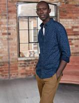 Boden Slim Fit Printed Indigo Shirt